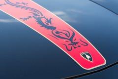 Logo dell'automobile di Lamborghini fotografia stock
