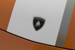 Logo dell'automobile di Lamborghini fotografie stock