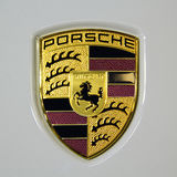 Logo dell'automobile di Porsche 911 Turbo S Fotografia Stock