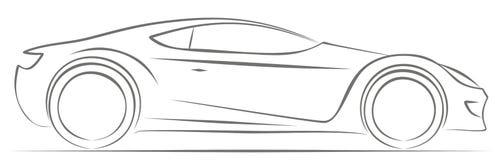 Logo dell'automobile sportiva Fotografia Stock