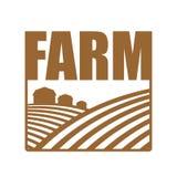 Logo dell'azienda agricola Segno di agricoltura Terreno arabile e terre dell'azienda agricola illustrazione di stock