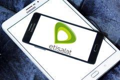 Logo dell'azienda di telecomunicazioni di Etisalat Fotografia Stock