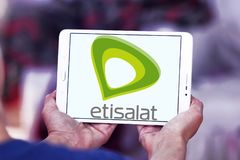 Logo dell'azienda di telecomunicazioni di Etisalat Fotografie Stock Libere da Diritti