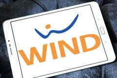 Logo dell'azienda di telecomunicazioni dell'Italia del VENTO Immagini Stock