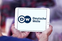 Logo dell'emittente di Deutsche Welle Immagine Stock