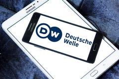 Logo dell'emittente di Deutsche Welle Fotografia Stock Libera da Diritti
