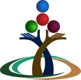 Logo dell'equilibrio delle mani Fotografia Stock Libera da Diritti