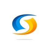 Logo dell'estratto del ciclo di tecnologia del cerchio Fotografia Stock