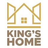 Logo dell'estratto di re Home royalty illustrazione gratis