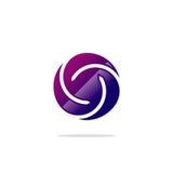 Logo dell'estratto di torsione del cerchio Immagine Stock Libera da Diritti