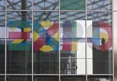 Logo 2015 dell'Expo Fotografia Stock Libera da Diritti