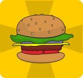 Logo dell'hamburger di vettore Fotografia Stock