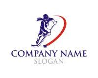Logo dell'hockey della donna Immagine Stock Libera da Diritti