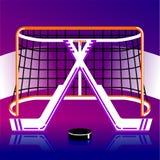 Logo dell'hockey nel vettore Fotografie Stock Libere da Diritti