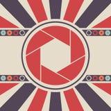 Logo dell'icona dell'otturatore Immagini Stock