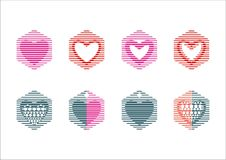 Logo dell'icona di amore del cuore Immagine Stock Libera da Diritti