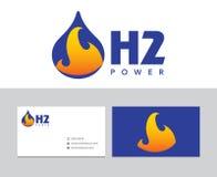 Logo dell'idrogeno Immagini Stock Libere da Diritti
