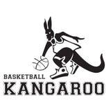 Logo 2 dell'illustrazione di pallacanestro del canguro immagine stock libera da diritti