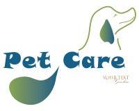 Logo dell'illustrazione di vettore della clinica di cura di animale domestico illustrazione vettoriale