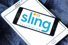 Logo dell'imbracatura TV Immagine Stock Libera da Diritti