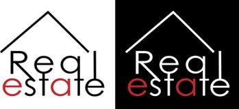 Logo dell'impresa immobiliare dell'iscrizione di Minimalistic Immagini Stock