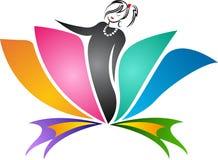 Logo dell'insegnante di yoga royalty illustrazione gratis