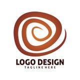 Logo dell'onda del cerchio Immagini Stock