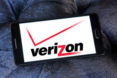 logo dell'operatore mobile del verizon Fotografie Stock