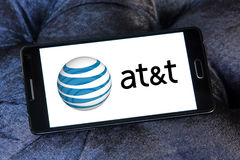 Logo dell'operatore mobile di ATT Immagine Stock