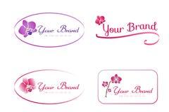 Logo dell'orchidea Immagine Stock