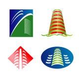 Logo dell'orizzonte della città Fotografie Stock Libere da Diritti