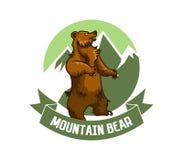 Logo dell'orso della montagna royalty illustrazione gratis