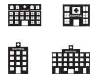 Logo dell'ospedale e modello di simboli illustrazione vettoriale
