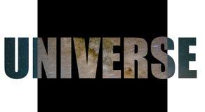 Logo dell'universo con il materiale da otturazione della stella illustrazione vettoriale