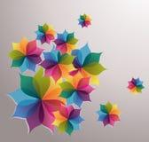 Logo dell'uomo del fiore Immagini Stock Libere da Diritti