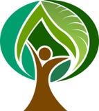 Logo dell'uomo dell'albero Fotografie Stock Libere da Diritti