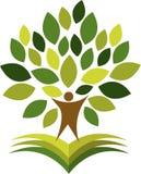 Logo dell'uomo dell'albero Immagine Stock