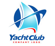 Logo dell'yacht Fotografia Stock
