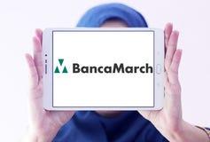 Logo della banca di Banca marzo Fotografia Stock Libera da Diritti
