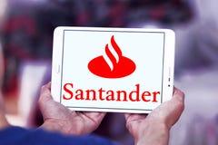 Logo della banca di Santander Fotografia Stock