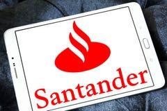 Logo della banca di Santander Fotografie Stock Libere da Diritti
