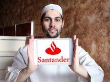 Logo della banca di Santander Immagine Stock Libera da Diritti