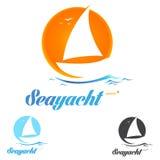 Logo della barca Fotografia Stock