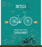 Logo della bicicletta di vettore Linea sottile icona per il logo, web Immagine Stock