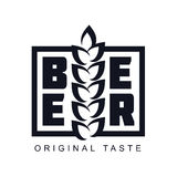Logo della birra del mestiere illustrazione di stock