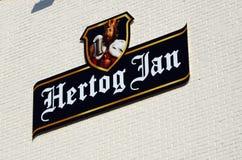 Logo della birra di Hertog gennaio fotografia stock