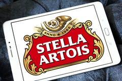 Logo della birra di Stella Artois Immagini Stock