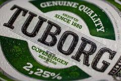 Logo della birra di Tuborg Fotografie Stock Libere da Diritti
