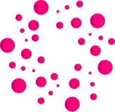 Logo della bolla, logo arancio per medicina, logo del fondo del cerchio di colore di concetto di sanità delle droghe su fondo bia royalty illustrazione gratis
