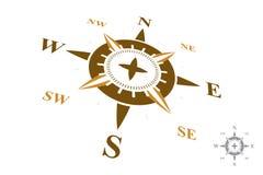 Logo della bussola isolato su fondo bianco Fotografia Stock Libera da Diritti